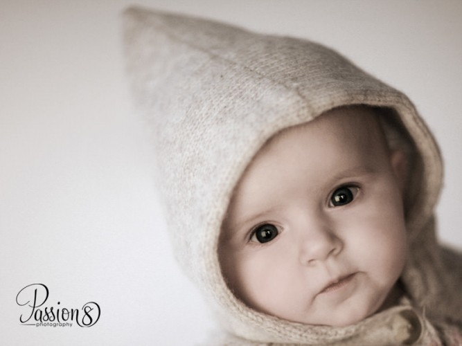 baby with hat photo