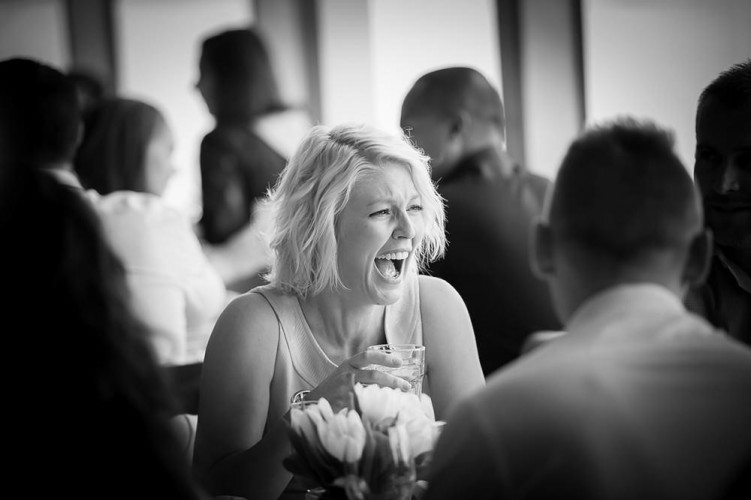 Laughter at a wedding held at Sails on the bay