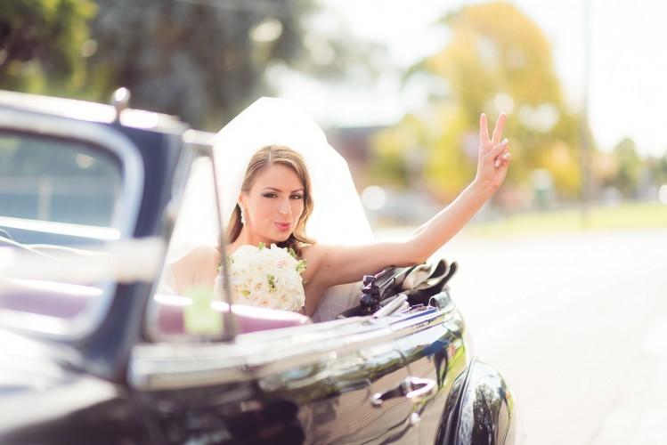 Sweet as bride Brighton wedding