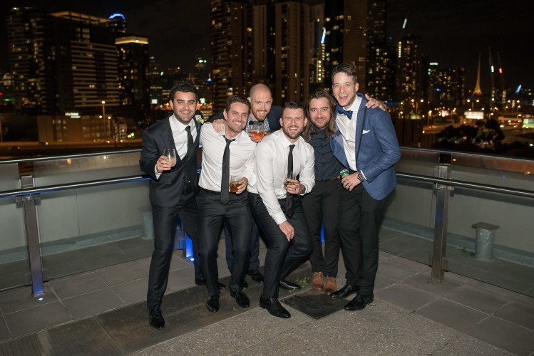 Fun guys wedding at Luminare