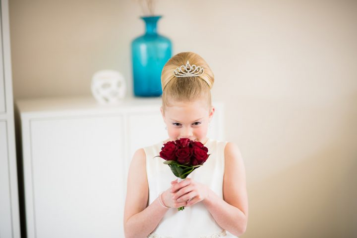 Wedding at Ballara flowergirl