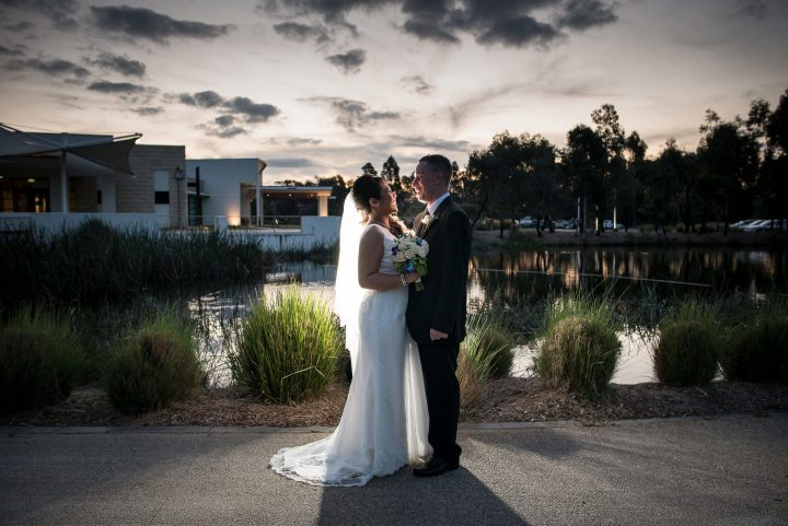 Wedding at Southern Golf Club sunset