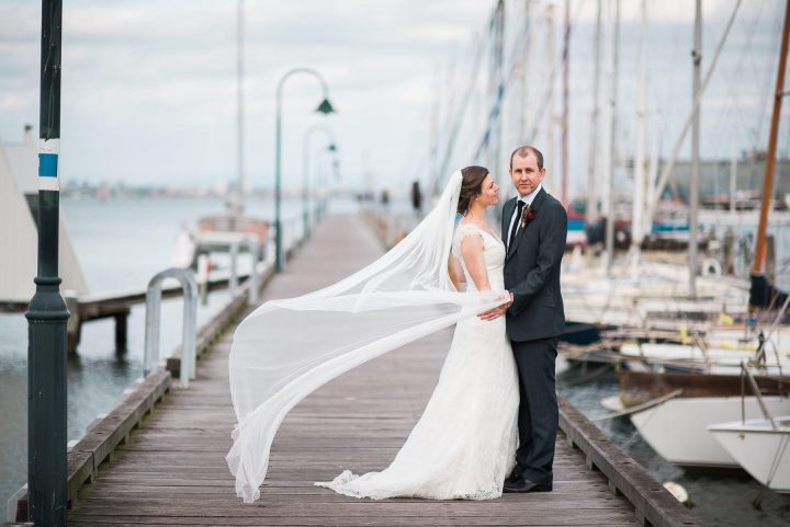 Wedding dress at Royal Motor Yacht Club