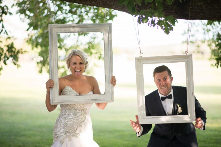 Wedding frames at Stones of the Yarra Valley