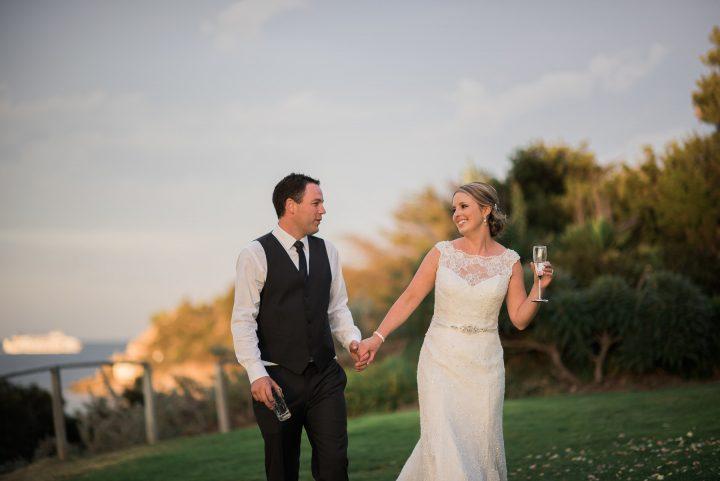 Wedding at Portsea Hotel cute couple