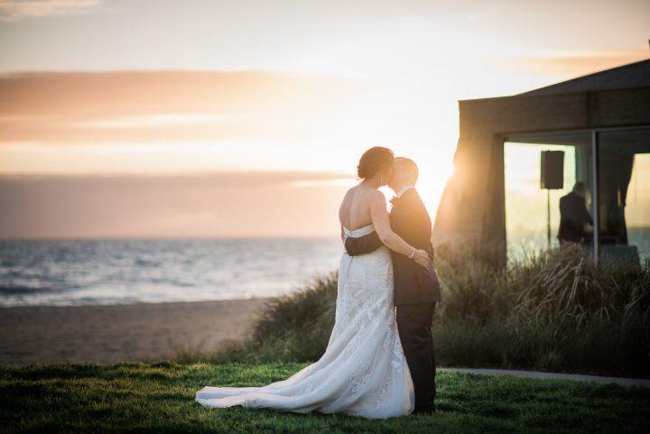 Wedding at Sails on the Bay at sunset