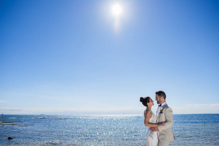 wedding at Sandringham yacht club beach