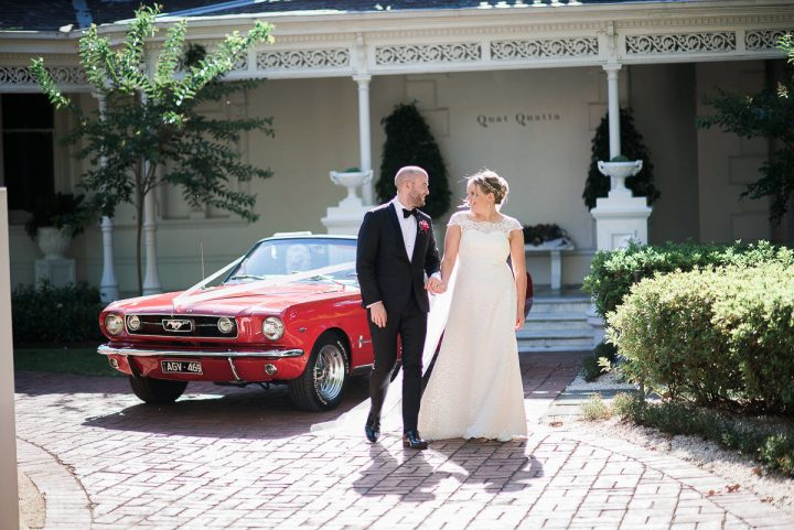 Wedding at Quat Quatta couple & mustang