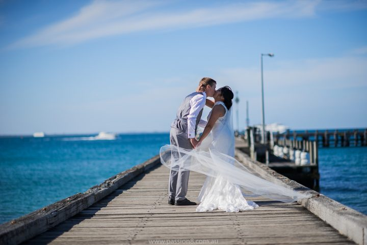 Wedding at Portsea Hotel pier